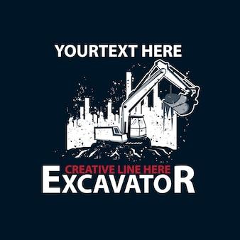 Excavator and the city