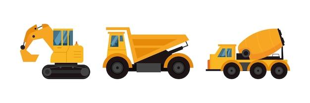 Excavator collection illustration