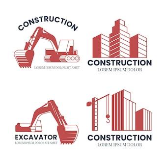 ショベル建設ロゴのコンセプト