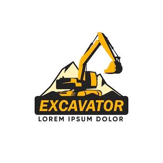 掘削機建設ロゴ