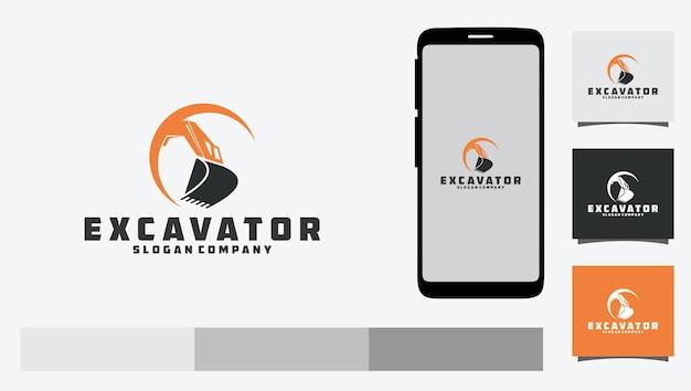 Excavator construction logo