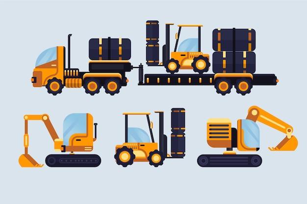 Excavator illustration collection