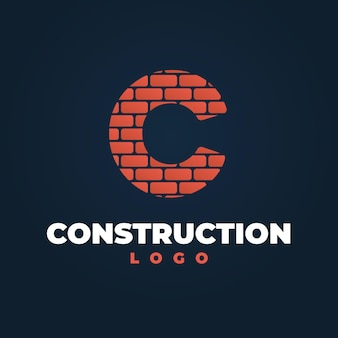 掘削機のロゴのコンセプト