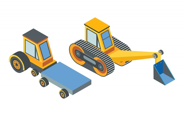 Excavator and transport with cargo place belt
