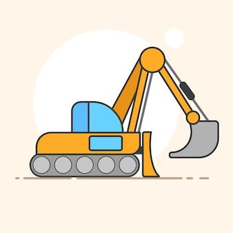 Excavator vector logo for your design needs. vector illustration