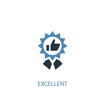 優れたコンセプト2色のアイコン。シンプルな青い要素のイラスト。優れたコンセプトシンボルデザイン。 webおよびモバイルui / uxに使用できます