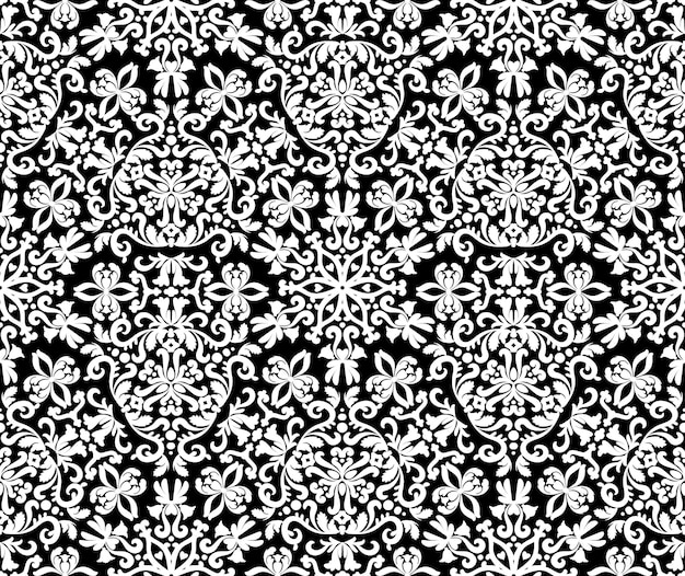 Отличный восточный орнамент бесшовные модели черно-белые декоративные текстуры менди узоры