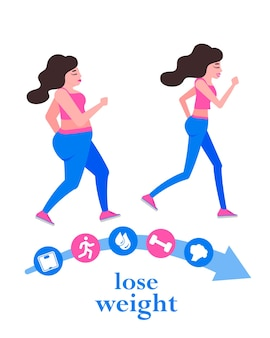 Проблема лишнего веса, жир, здравоохранение, нездоровый образ жизни, концепция дизайна