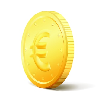 Exchange money concept two sides golden coin