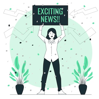 Exciting news concept illustration