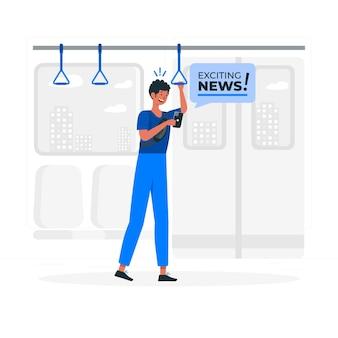 Emozionante illustrazione del concetto di notizie