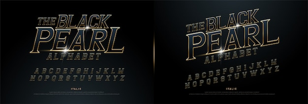 Exclusive alphabet golden metallic and effect