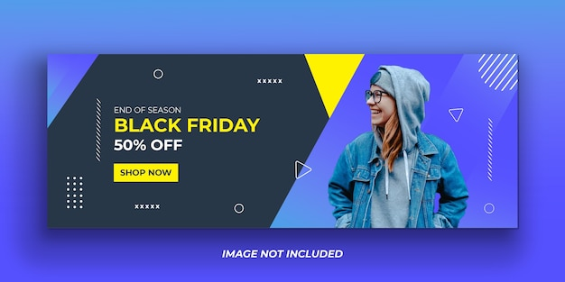 Exclusive black friday social media facebook cover template