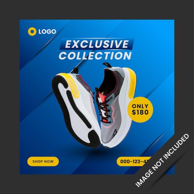 Exclusive collection sport shop social media post template design