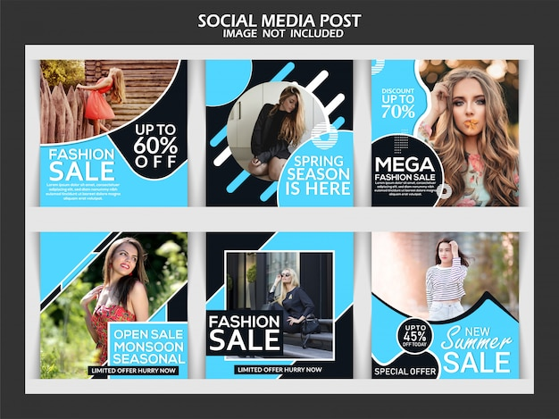 Exclusive fashion social media post template