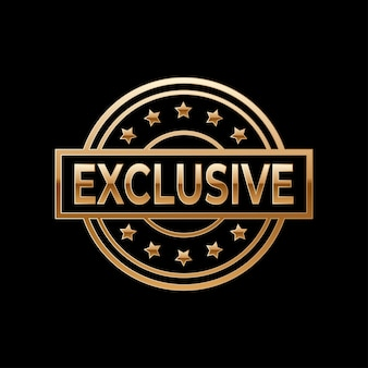 Exclusive gold emblem or badge