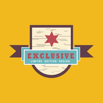 Exclusive limited edition badge vector