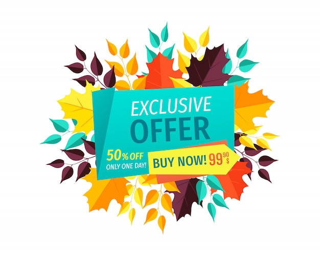 Exclusive offer buy now autumn