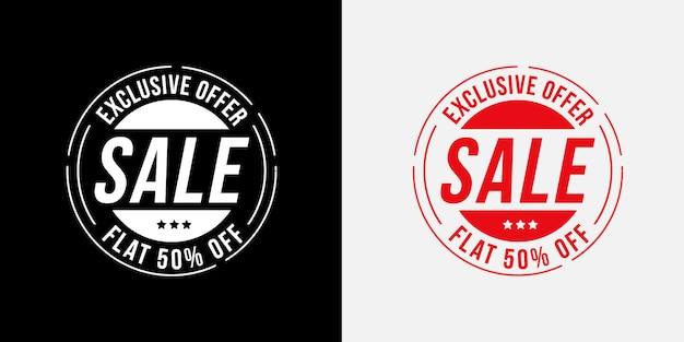 독점 제공 판매 배지 세트