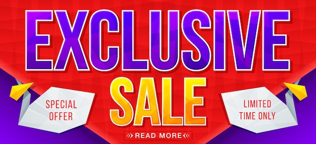 Exclusive sale banner sale and discounts
