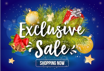 Exclusive Sale Shopping Now Lettering