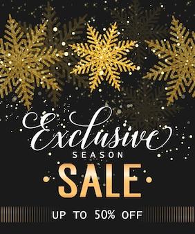 Exclusive season sale lettering