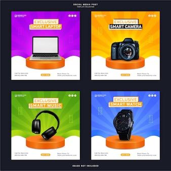 Эксклюзивные умные наушники с цифровой камерой для ноутбука и часы instagram story banner post в социальных сетях