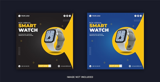 Exclusive smart watch collection instagram banner template