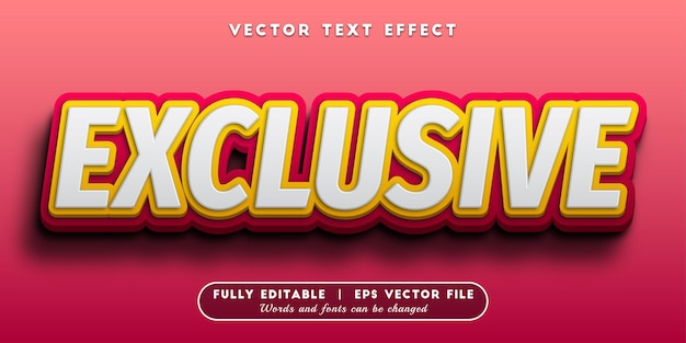 Exclusive text effect with editable text style