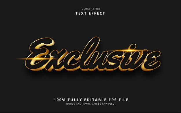 Exclusive text effect
