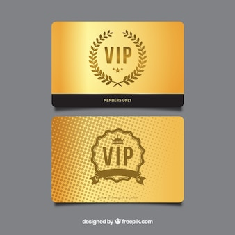 Exclusive vip cards with elegant style