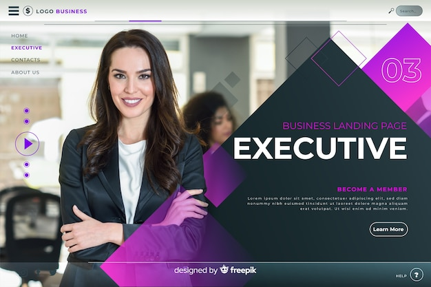 Executive business landing page