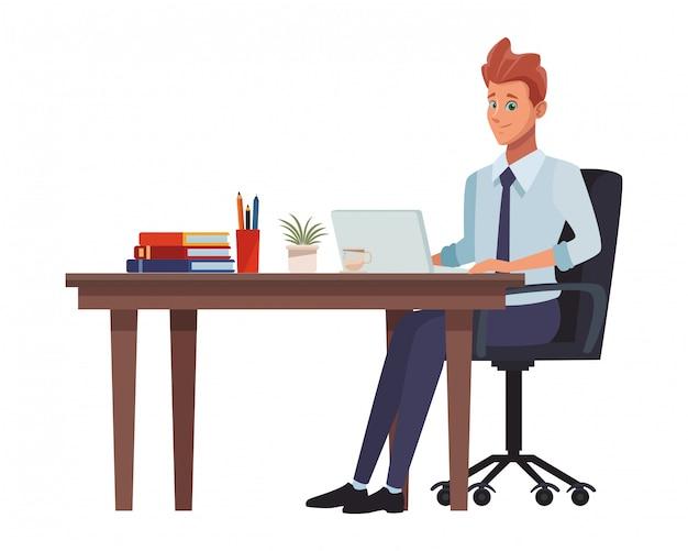Executive businessman cartoon