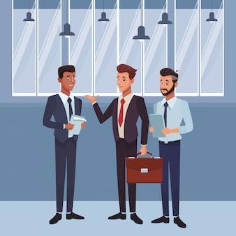 Executive businessmen cartoon