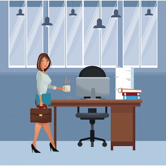 Executive businesswoman cartoon
