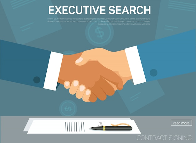 Executive search landing page template