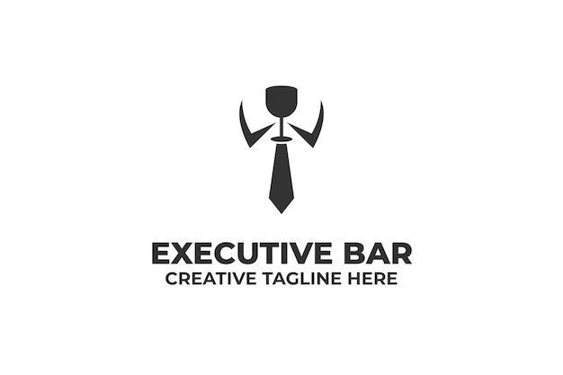 Executive suite businessman logo