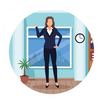 Executive woman cartoon