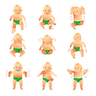 Набор упражнений и массажа для маленьких детей