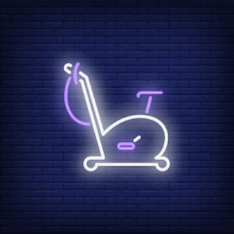 Exercise bike neon sign