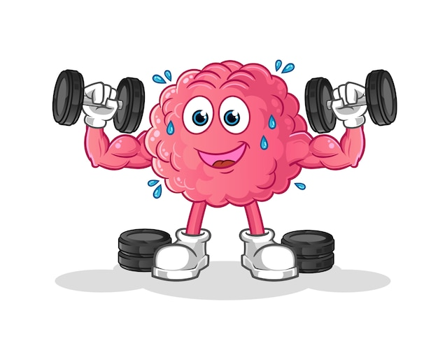 Exercise brain cartoon character