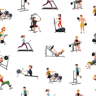 Exercise equipment seamless pattern