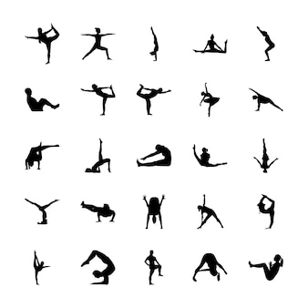 Exercise glyph icons