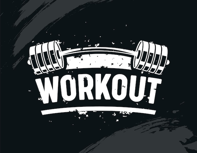 Упражнения в тренажерном зале со штангой, бодибилдингом, творческим бодибилдингом и концепцией мотивации фитнеса.
