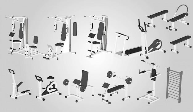 Exercise machine set