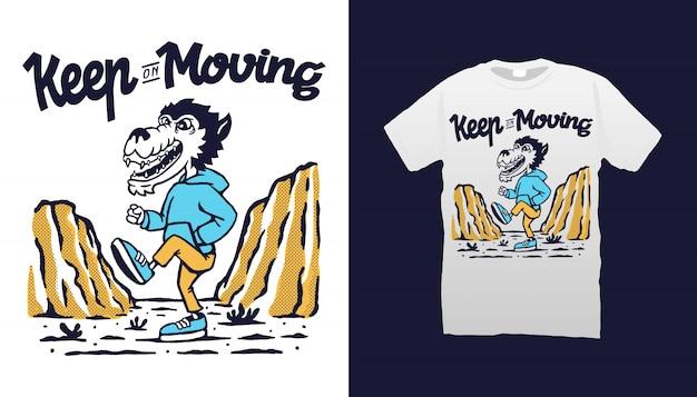 Exercise wolf tshirt design
