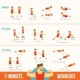 Exercises infographic template