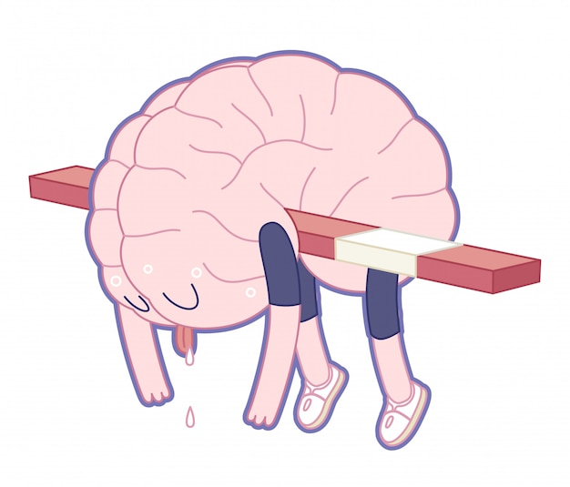 Exhausted brain