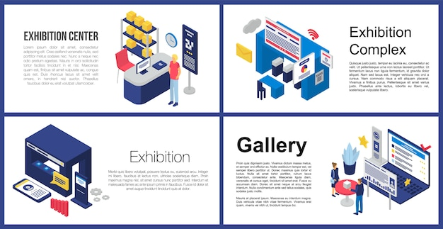 Exhibition center banner set