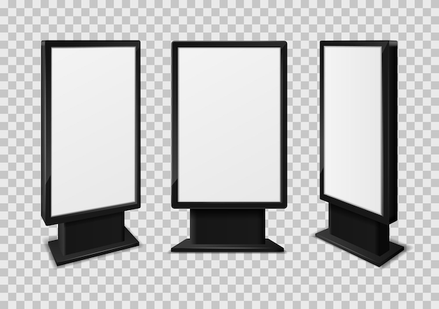 Exhibition communication stand design template of 3d ad screen